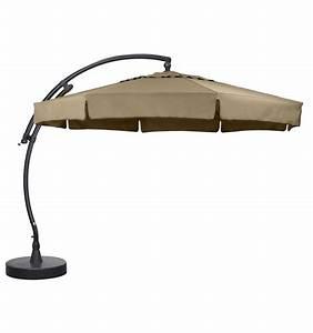 Toile De Rechange Pour Parasol Déporté : parasol d port easy sun classique avec volants taupe ~ Dailycaller-alerts.com Idées de Décoration