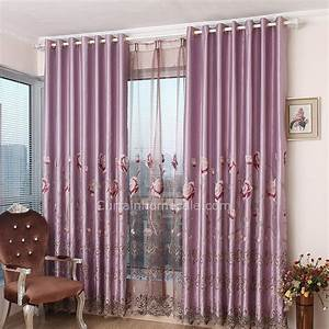 Gardinen Vorhänge Wohnzimmer : schwer faux silk lila polyester wohnzimmer luxus vorh nge und gardinen ~ Markanthonyermac.com Haus und Dekorationen
