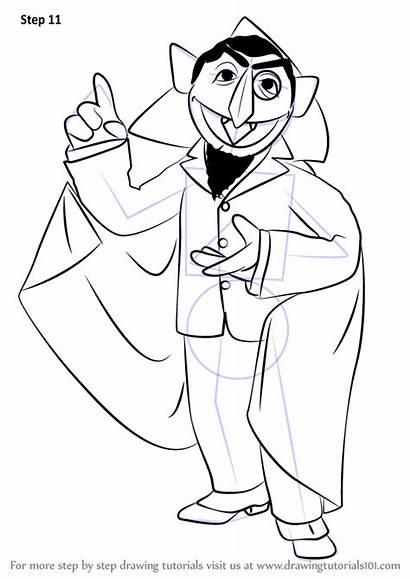 Count Street Draw Seasame Sesame Drawing Step
