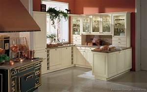 pictures of kitchens traditional off white antique With kitchen colors with white cabinets with red and cream wall art