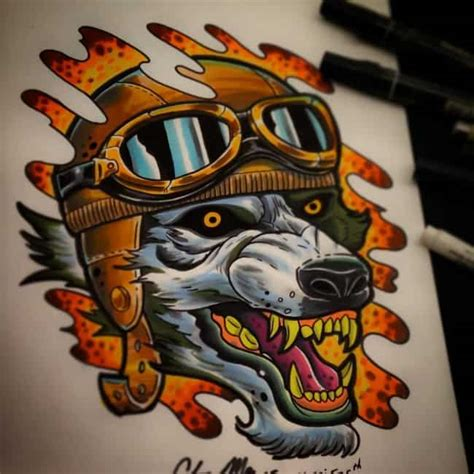 inspiring wolf tattoos   meanings april