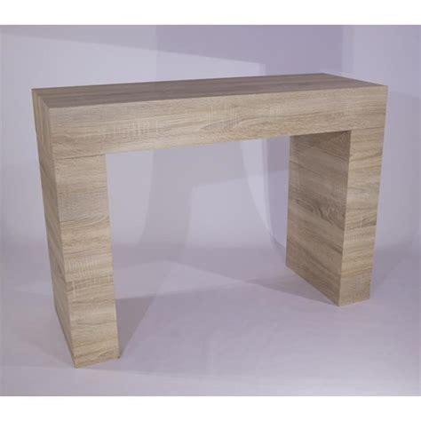 console cuisine pas cher table console evolution chene clair achat vente console meuble pas cher couleur et design fr