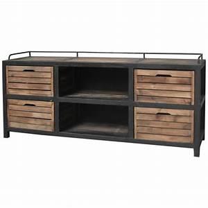 Meuble Tv Fer : meuble casiers industriel ~ Teatrodelosmanantiales.com Idées de Décoration