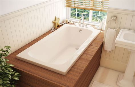 mirabelle tubs cs 32 alcove or drop in bathtub pearl for the home