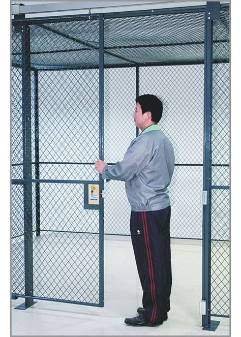 commercial wire mesh partition panels full height wire cage door  lbs weight