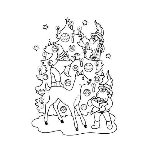 Kleurplaten Kerst by Leuk Voor Kerst Elfjes