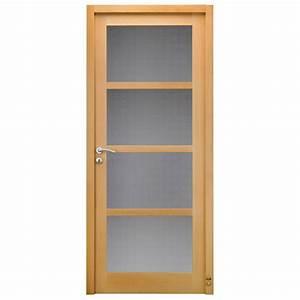 porte d39interieur bois caumartin pasquet menuiseries With porte de garage enroulable avec porte intérieure vitrée bois