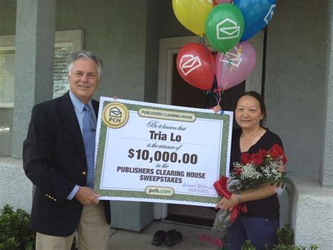 publishers clearing house winner today pch prize patrol drops in on louisiana and california