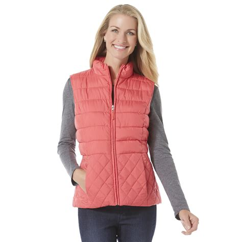 quilted puffer vest s puffer vest shop stylish outerwear at sears