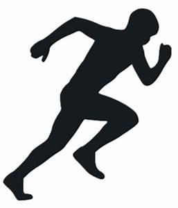 Running Man Silhouette PNG Image