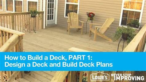 build  deck part  design deck plans youtube
