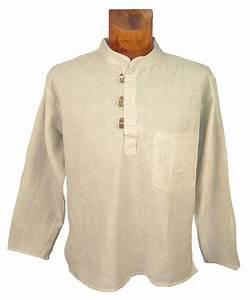 Chemise Sans Col Homme : chemise unie nepalaise homme kurta col mao nepal inde ~ Louise-bijoux.com Idées de Décoration