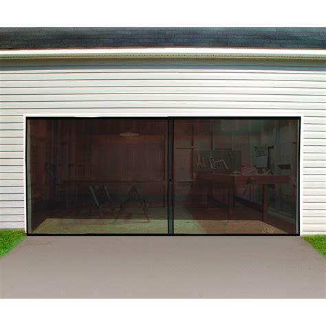 garage door screen 16 ft w x 7 ft h magnetic