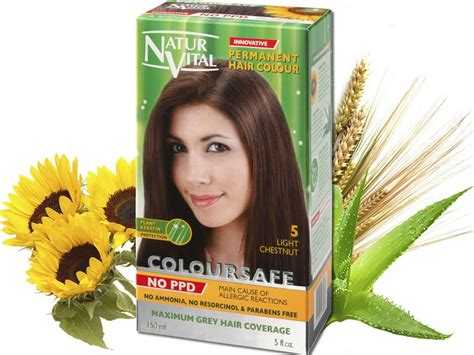 hair color without ppd coloursafe ppd free light chestnut no 5 naturvital ppd