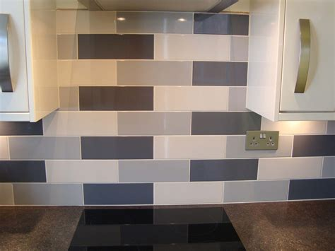 Linear Grey Gloss Wall Tile - Kitchen Tiles from Tile Mountain