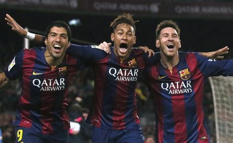Lionel Messi, Luis Suarez And Neymar All Score In ...