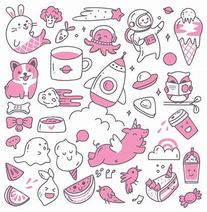 Doodles Kawaii Premium Vector