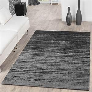Teppich Laeufer Modern : teppich modern wohnzimmer teppich farbverlauf kurzflor grau anthrazit meliert moderne teppiche ~ Markanthonyermac.com Haus und Dekorationen