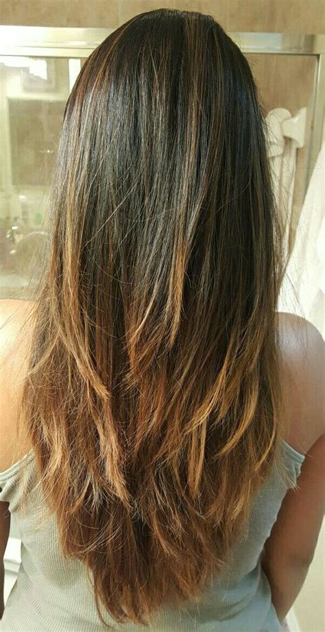 long layers  cut bayalage ombre hairstyle hair cuts