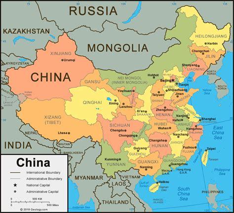 china map  satellite image