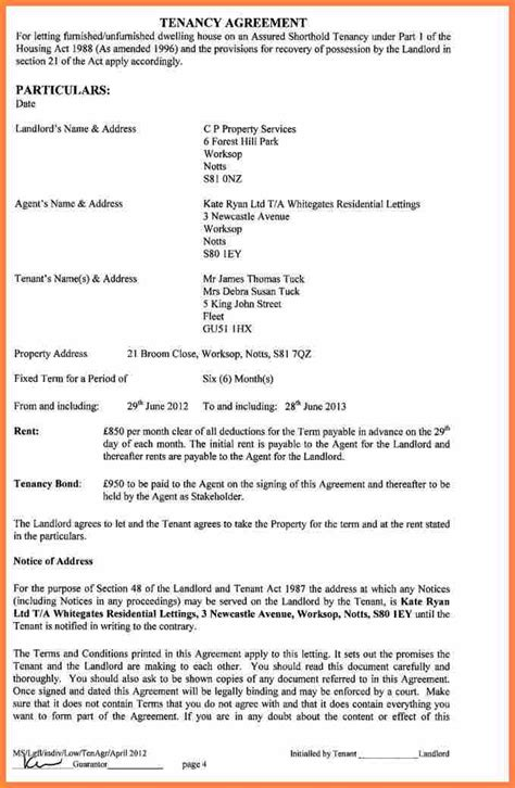 short assured tenancy agreement template purchase