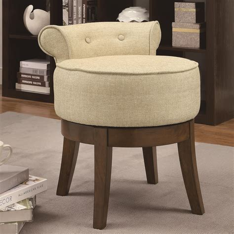 coaster accent seating upholstered swivel vanity stool