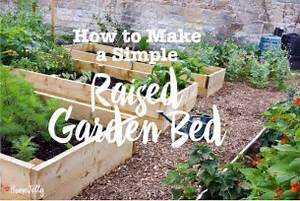 How To Make A Simple Raised Garden Bed   Homejelly