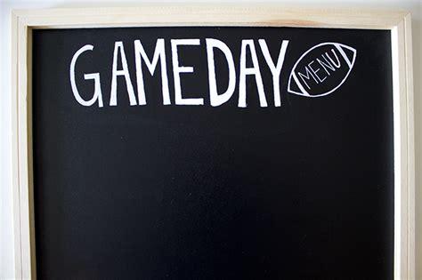 football game day menu diy handmade decor  flair