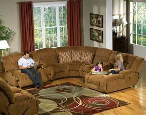 Camel fabric enterprise 4pc reclining sectional sofa w options for Fabric sectional sofas with chaise and recliner