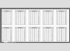 Cara Membuat Tabel Perkalian Matematika sampai 100 dengan