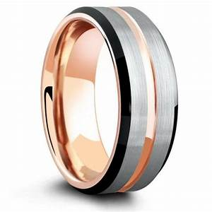 tungsten wedding bands mens tungsten rings northernroyal With black and gold mens wedding ring