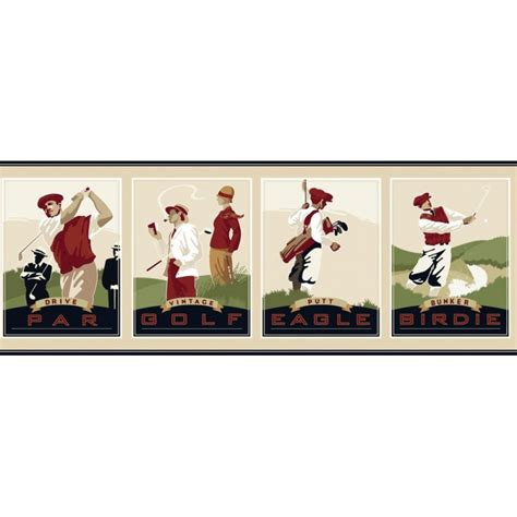 gfbd vintage golf border discount wallcovering