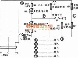 Manpower Insulation Type Electronic Rice Cooker Circuit Diagram