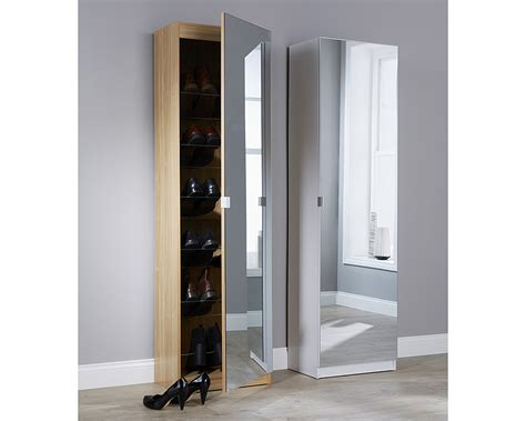 White Bathroom Wall Cabinet With Mirror by Mirrored Shoe Cabinet