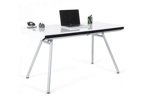 bureaux pas chers bureau rectangulaire design blanc aristide bureaux pas cher