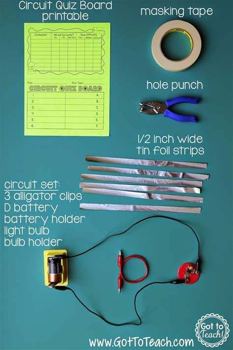 Electrical Circuit Game Show Lesson Bulletin Board Ideas