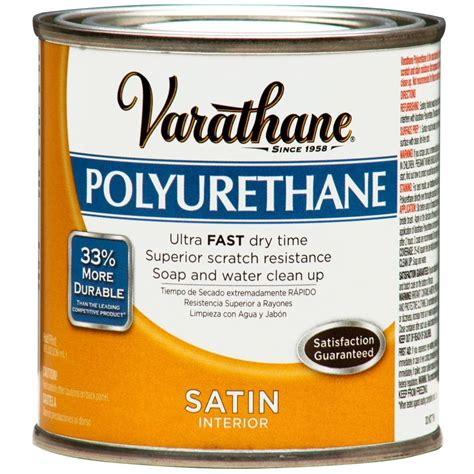 Varathane Floor Finish High Traffic Formula by Minwax 1 Gal Satin Fast Drying Polyurethane 71028 The