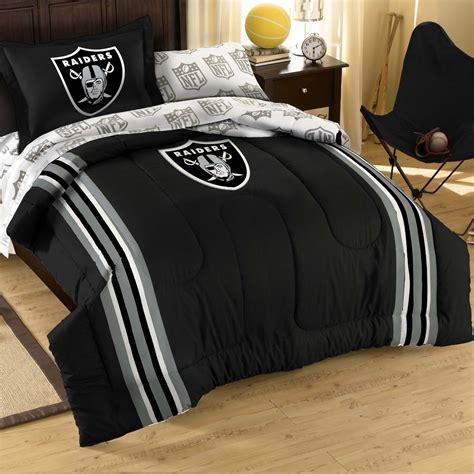 oakland raiders full size premium comforter bedding set