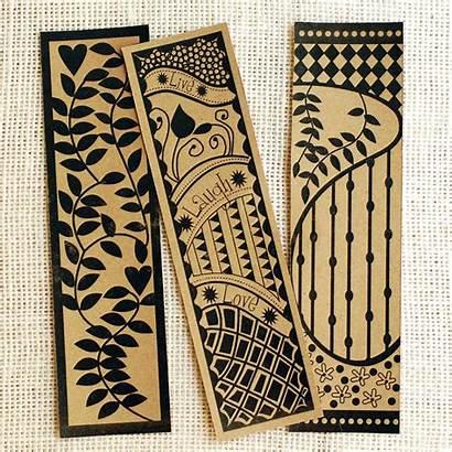 Bookmark Zentangle Printable Crafts Halloween Christmas Fall