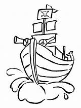 Pirate Flag Coloring Getdrawings Ship sketch template