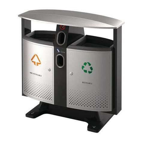 poubelle cuisine tri poubelle d 39 extérieur design piles et tri sélectif 2 x 39 l