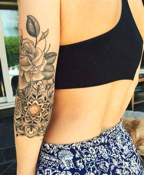 tattoo mandala bras femme tatouages  piercings