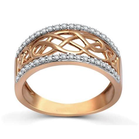 designer rose gold diamond wedding band ring for women