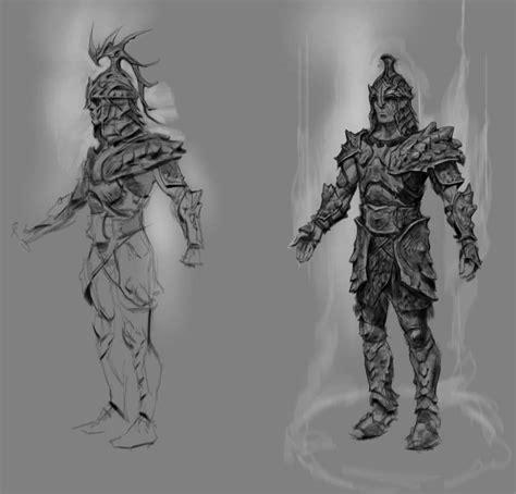 Dragon Armor Concept Art From The Elder Scrolls V Skyrim