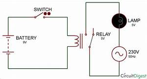 Latching Relay Circuit Diagram