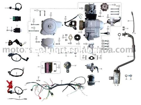 2007 Coolster Atv Wiring Diagram by Coolster 110cc Atv Parts Furthermore Pit Bike Engine