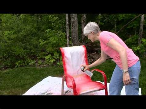 spray paint outdoor chairs sunset
