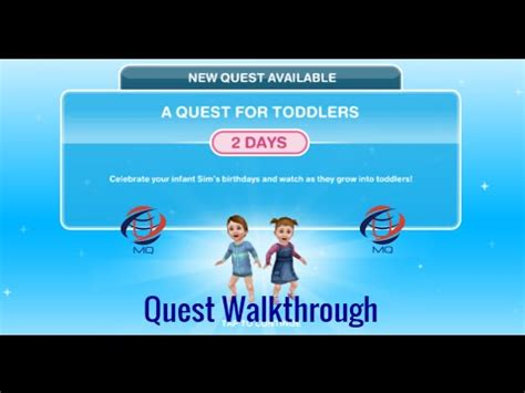 sims freeplay  quest  toddlers quest walkthrough