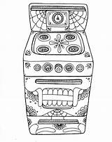 Oven Coloring Pages Wenchkin Yucca Flats Skull Dead Yuccaflatsnm Colouring Food sketch template