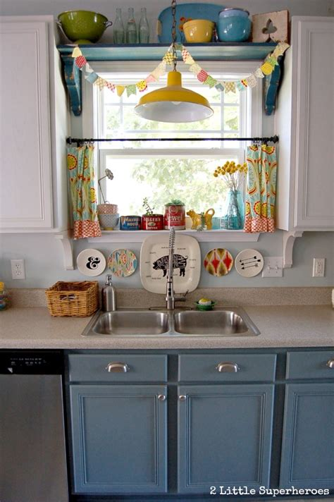 hometalk a diy kitchen makeover on a small budget hometalk boring to blue kitchen makeover